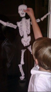 Skeleton Bones Relay Race